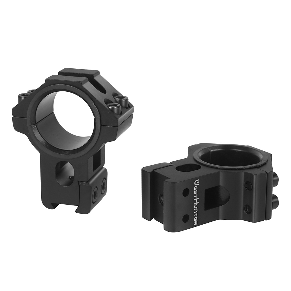 High Profile 11mm Dovetail Double Rings Hunting Riflescope Mount CNC Machining 25.4mm/30mm For Tactical Optical Sights Shooting