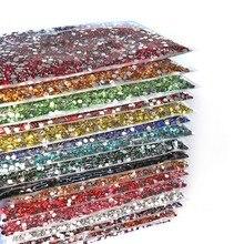Gros gelée AB résine non correctif strass сеаааflatback cristaux en plastique strass paillettes pierre grand paquet pour bricolage ongles