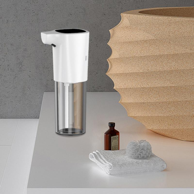 H80a12fd5805042a09f88872e8a966e51I - 275ml Automatic Soap Dispenser Vertical Touchless Induction Foam Electric Smart Sensor Liquid Soap Dispenser Bathroom Kitchen