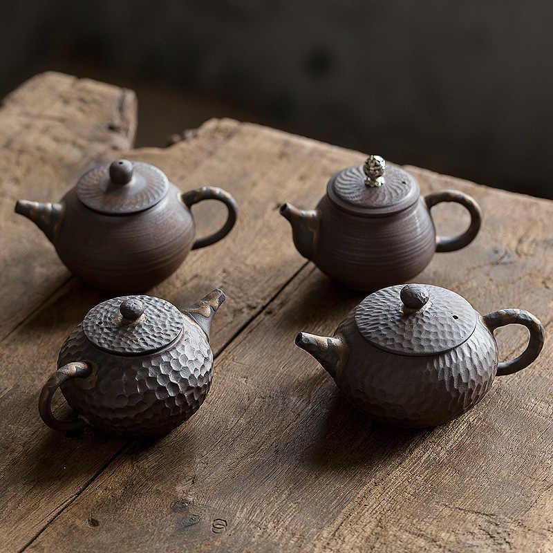 Teiera Laterale in Ceramica A Manico Singolo Set da t/è Kung Fu gousheng Teiera in Stile retr/ò Pentola Singola