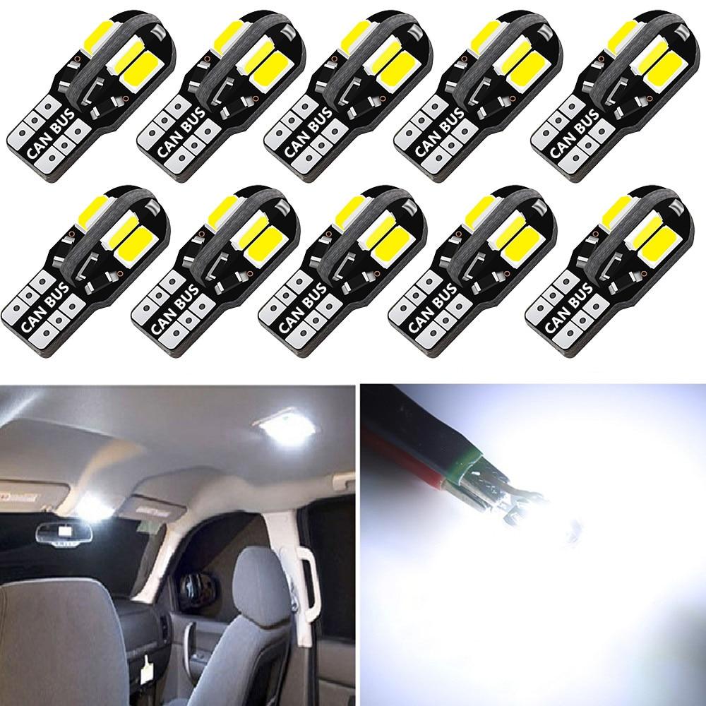 10 шт., светодиодная лампа T10 для VW Golf, Polo, Passat, Scirocco, Tiguan, Seat Skoda Octavia