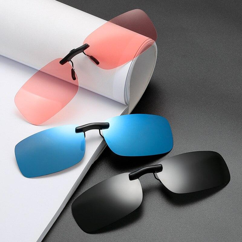1 шт. Авто водительские очки анти-УФ UV400, поляризованные солнцезащитные очки, очки для вождения ночью объектив с клипом солнцезащитные очки а...