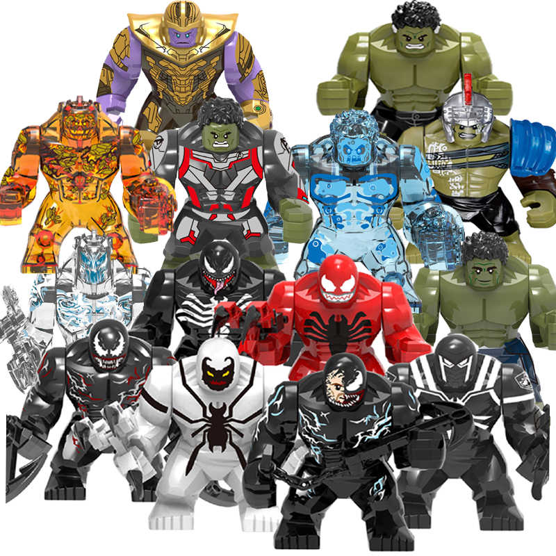Big Size Hulk Marvel Avengers Endgame legoed Superheroes Hulkbuster Ironman Spiderman Thanos Building Blocks bricks Toy For Kids