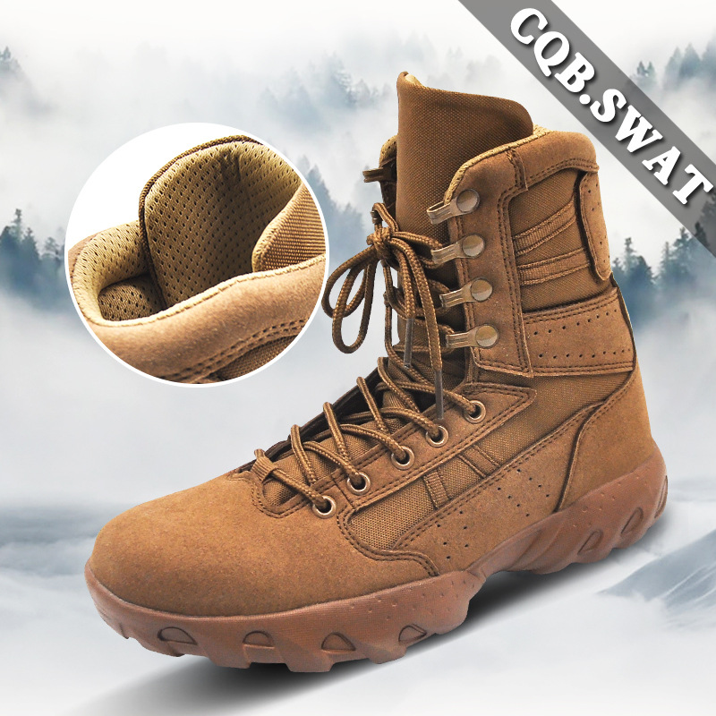 CQB. SWAT Tactical Combat Boots Winter Hight-top Combat Boots Outdoor MEN'S Shoes Desert Boots Combat Boots 06 Boots