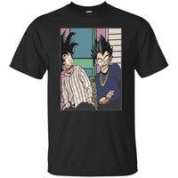 Son Goku and Vegeta Friday The Movies Funny Meme Black T Shirt Craig Jones S 6XL