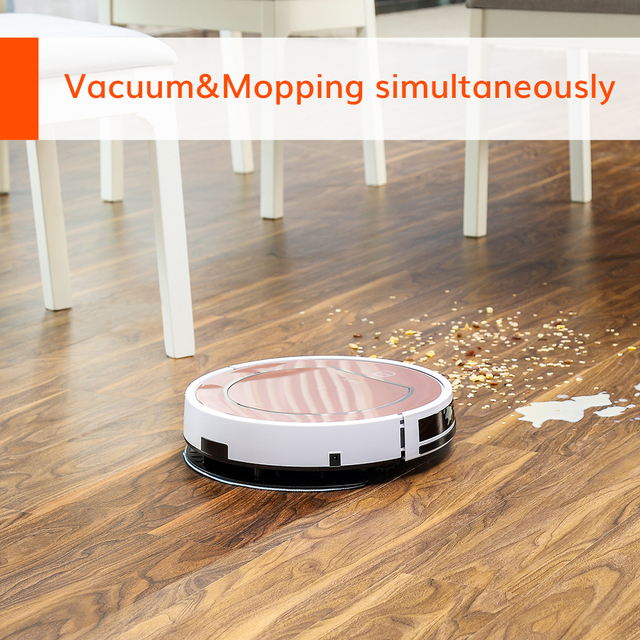 ILIFE V7s Plus Robot Vacuum Cleaner Sweep and Wet Mopping Floors&Carpet Run 120mins Auto Reharge,Appliances,Household tool dust 6