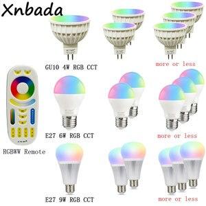 Image 4 - Milight miboxer 2.4グラムled電球、MR16 GU10 E14 E27 ledランプスマートワイヤレス4ワット5ワット6ワット9ワット12ワットcct/rgbw/rgbww/rgb + cct ledライト