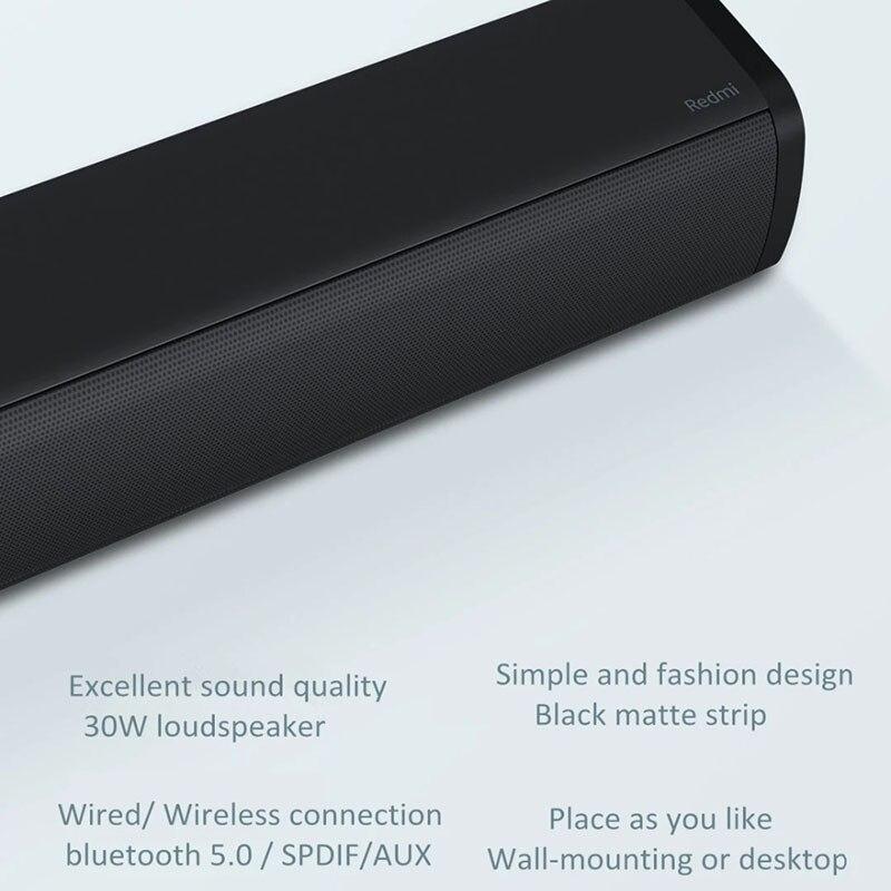 Оригинальная ТВ-Колонка Xiaomi Redmi 30 Вт, проводная и беспроводная звуковая панель для телевизора BT5.0, домашняя объемная звуковая панель, стерео ...
