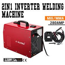 MIG  Inverter Welder 280A IGBT MAG MMA 3 in 1 Portable