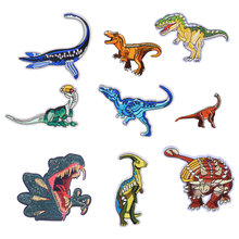 Big Dinosa Patches for Clothing Iron on Embroidered Sewing Applique Cute Sew Fabric Badge DIY Apparel Accessories Decoration
