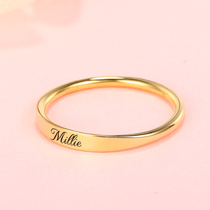 Image 2 - Personalized 925 Silver Custom Name Ring Engraved Initial Date Coordinates Name Delicate Stackable Rings Women Men Jewelry New