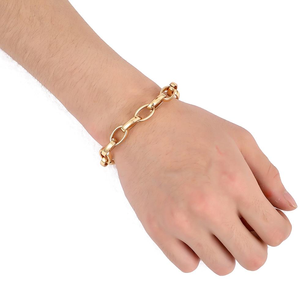"""Rings Chain Men//Women Bracelet Stainless Steel 8/"""" Link Vogue Jewelry"""