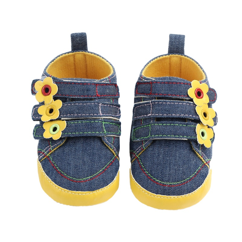 Spring Autumn Baby Shoes Girls Boys Cotton Sunflower Canvas Shoes First Walkers BabyToddler Shoes