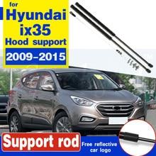 Amortiguador de choque de Gas para coche, soporte de elevación para Hyundai ix35 2009-2015, barra de soporte para capó hidráulico, varilla puntal, 2 uds.