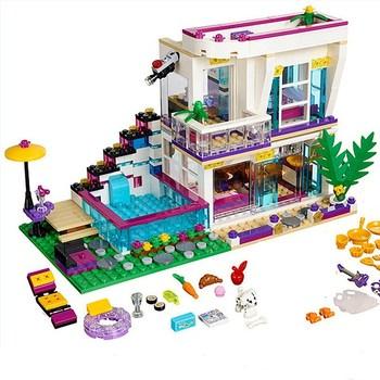 37035 Star Livi #8217 s budowa domu kompatybilny Legoinglys przyjaciel dla dziewczyn figurki cegły edukacyjne zabawki dla childre 760 sztuk tanie i dobre opinie piggy dream Unisex 8 lat Certyfikat BLOCKS 760PCS Z tworzywa sztucznego Samozamykajcy cegły