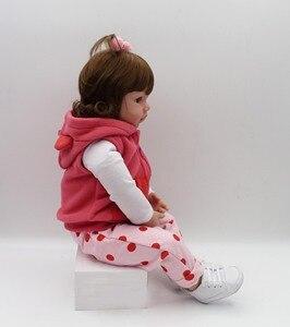 Image 2 - 19インチ48センチメートルベベ女のリアルな人形ベビー新生児のおもちゃ子供のためのクリスマスプレゼントや誕生日ギフト笑人形おもちゃ