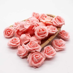 Image 4 - 4cm 30 sztuk/partia Big PE pianki Rose sztuczny kwiat głowy dekoracji ślubnej domu DIY Scrapbooking wieniec fałszywe dekoracyjne Ros