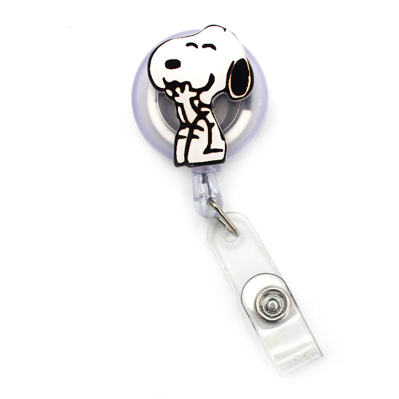 Squirrel Protecting His Nuts Heart Lanyard Retractable Reel Badge ID Card Holder