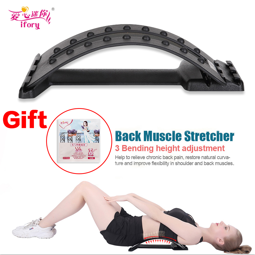 Ifory Home Back Massage Magic Stretcher Neck Waist Pain Relief Fitness Equipment Cervical Lumbar Traction Humpback Device(China)