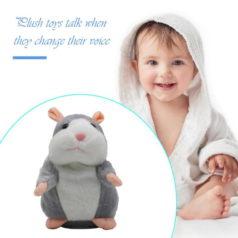 Funny Voice Changing Talking Hamster Stuffed Plush Animal Doll Sound Walking Speaking Record Repeat Educational Toys