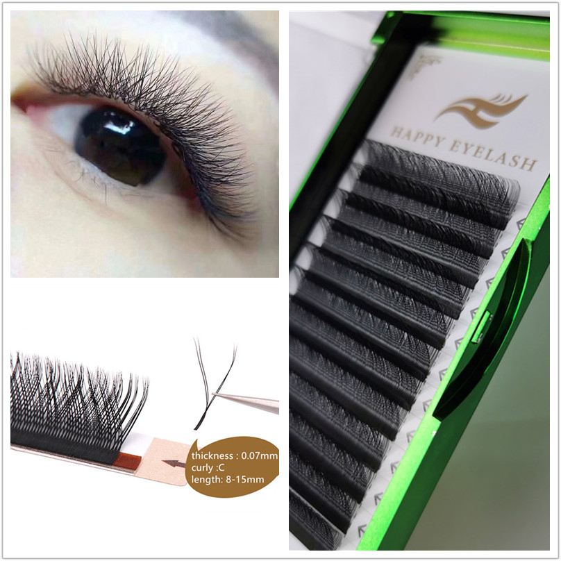 7-16mm Y Shape Eyelashes Extensions Double Tip Lash Eyelash Cilios Y Natural Easily Grafting Y Style Volume Eye Lashes Faux Mink