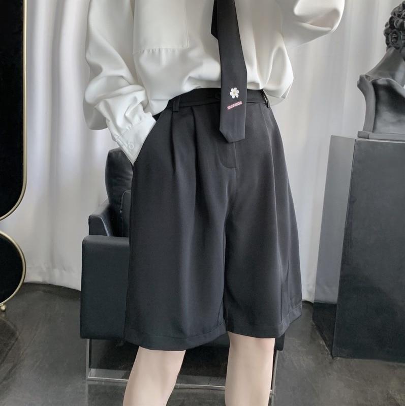 2020 летние новые молодежные популярные мужские корейские однотонные брюки с пятью точками модные повседневные Прямые шорты M 2XL|Шорты|   | АлиЭкспресс