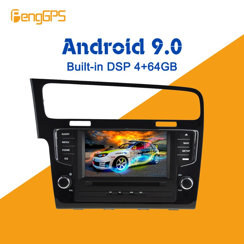 Android 9.0 4+64GB DVD player Built-in DSP Car multimedia Radio For VW Golf 7 2013-2017 GPS Navigation Stereo Audio