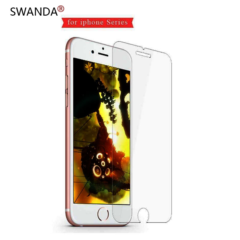Tempered Glass For IPhone 6 6S Screen Protector For IPhone 7 Plus Glass Film For IPhone 8 Plus X XR XS SE 5S Tough Protection