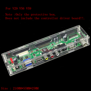 Controller driver board transparent plastic protective case box For LED/LCD display V29 V56 V59 controller driver board(China)