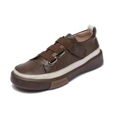 AIYUQI – baskets en cuir véritable pour femmes, chaussures de printemps, décontractées, plates, à la mode, pour étudiantes, grande taille 42 43, 2021