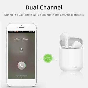 Image 3 - Auriculares TWS Mini 2 inalámbricos por Bluetooth 5,0, Auriculares deportivos con micrófono y caja de carga para iPhone y Xiaomi PK i9s i7s