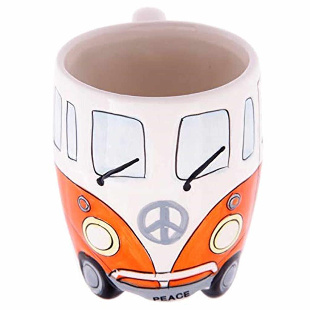 Belle en plastique dessin animé lait café tasse enfants dessin animé lavage tasse porte-brosse à dents tasse PP salle de bains rinçage tasse 400ml 2019