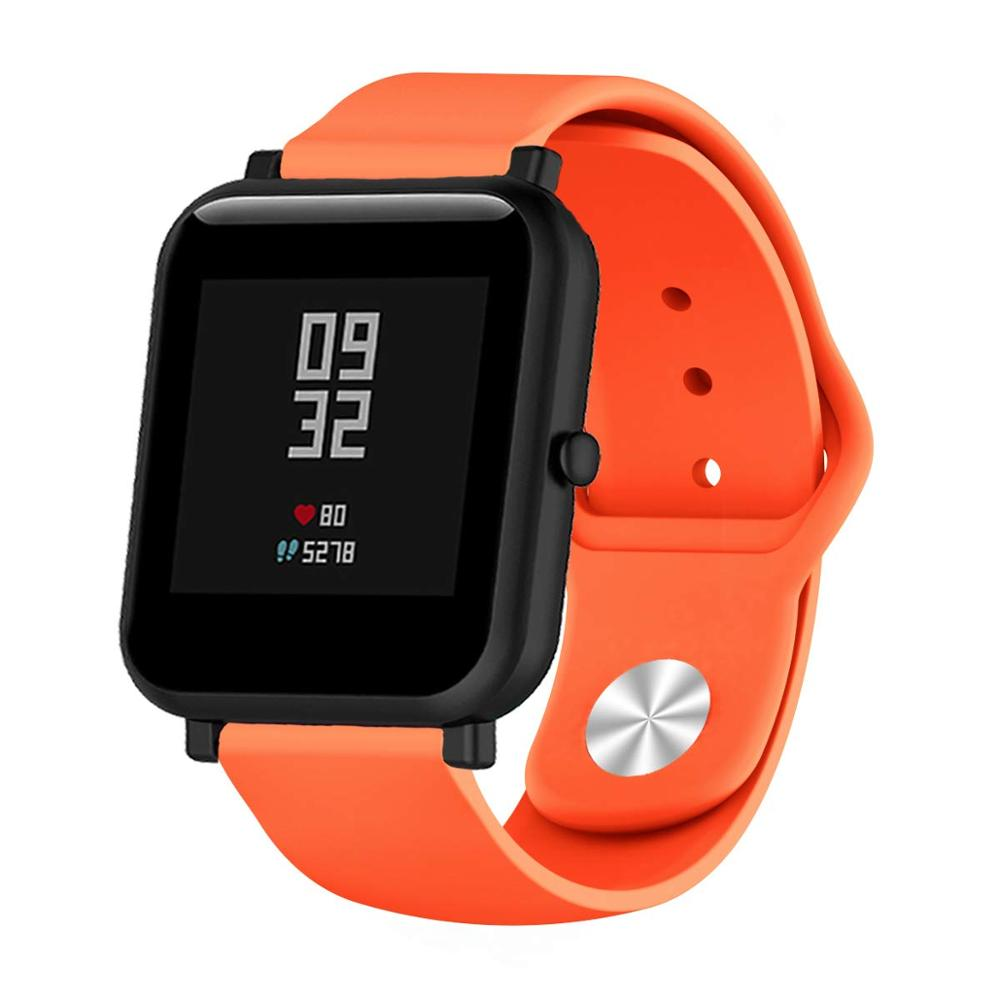 Silicone Sport Band Strap For Amazfit Bip Pace Band  Quick Release WatchBand 20mm 22mm