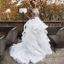 Платье свадебное из органзы с открытой спиной в стиле бохо