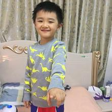 New Cartoon Dinosaur Baby Boy Sweater Pure Cotton Double Layers Tiny Thread Top for Girls Cardigan Kids Warm Winter Tops