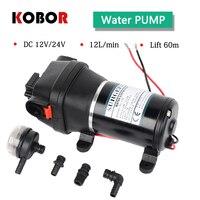 Fl 100 12v 24v Dc High Pressure 100 Psi(7.0bar) Lift Max 60m Electric Diaphragm Cleaning Car Washing Pump