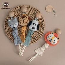 Let's Make-Cadena de chupete dentición seguros para bebé, accesorios para bebé, animales de dibujos animados Multicolor, regalo para bebé, 1 ud.