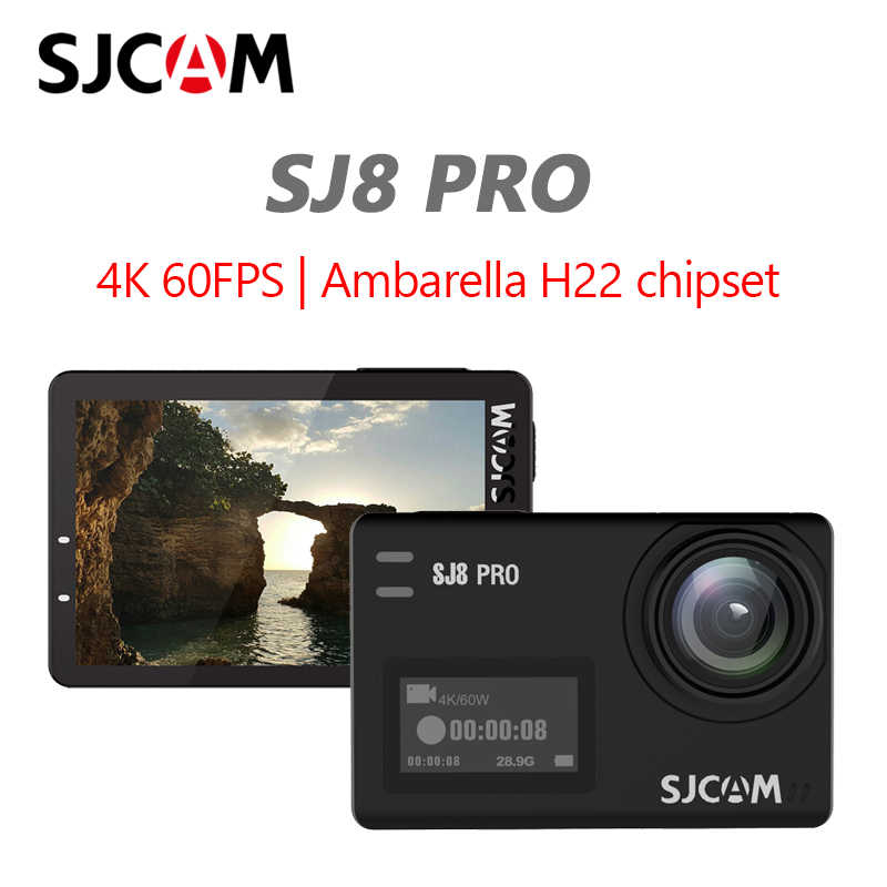 Asli SJCAM SJ8 Pro Action Camera 4K 60FPS Wifi Remote Helm Kamera Ambarella Chipset 4K @ 60FPS Ultra HD ekstrim Olahraga DV