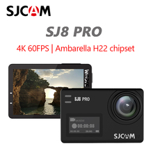 Câmera de ação original sjcam sj8 pro, câmera remota de capacete com 4k @ 60fps, wifi, ambarella chipset 4k @ 60fps, ultra dv esportes radicais hd