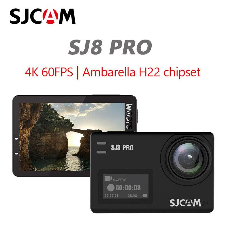 Original SJCAM SJ8 Pro 4K 60FPS Remoto Wi-fi Câmera de Ação Capacete Câmera Ambarella Chipset 4K @ 60FPS Ultra HD extreme Sports DV