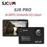 Original sjcam sj8 pro câmera de ação 4 k 60fps wifi remoto capacete câmera ambarella chipset 4k @ 60fps ultra hd esportes radicais dv