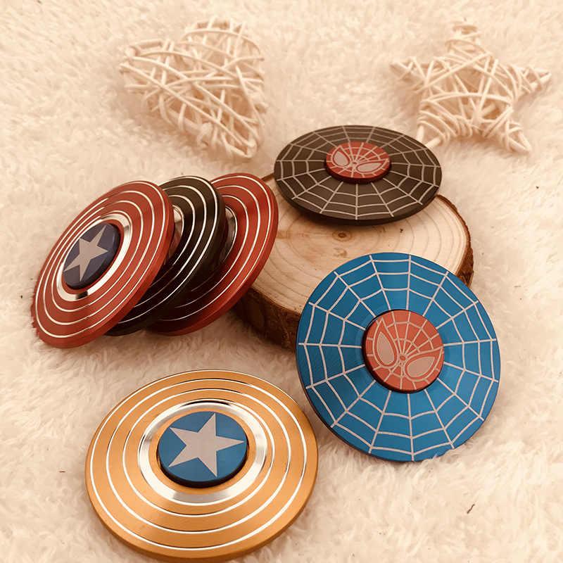 Америка сплав Спиннер круг капитан щит ручной Спиннер железный ящик детская игрушка подарок оптовая продажа