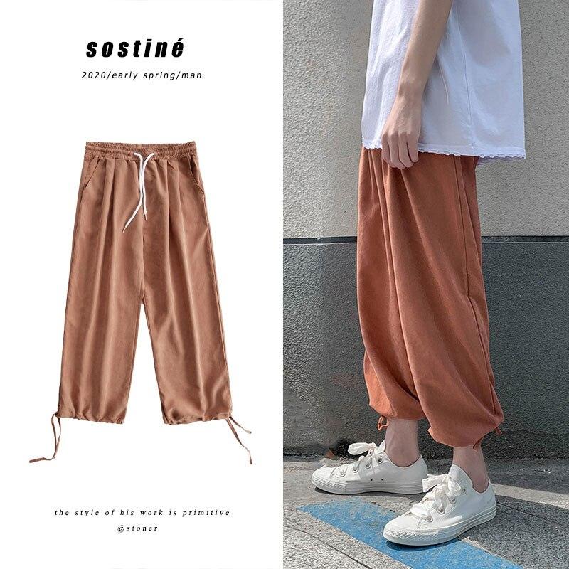 Privathinker Hip Hop Streetwear Male Joggers Korean Men Casual Harem Pants 2020 New Fashion Man Wide Leg Length Sweatpants