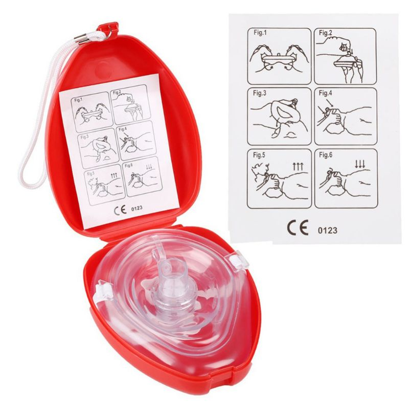 First Aid Mouth Breathe CPR Face Shield One Way Valve Resuscitator Supports