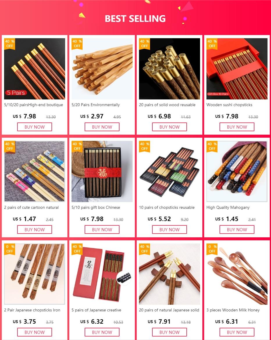 Палочки для еды 5 пар китайские японские деревянные бамбуковые