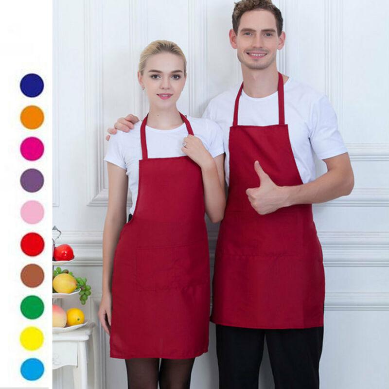 Women Men Adjustable Bib Apron Dress Kitchen Restaurant Chef Classic Cooking