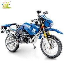 HUIQIBAO 799 sztuk motocyklowe klocki Technic prędkość mistrzów samochodów DIY model cegieł zabawki edukacyjne dla dzieci dzieci prezent