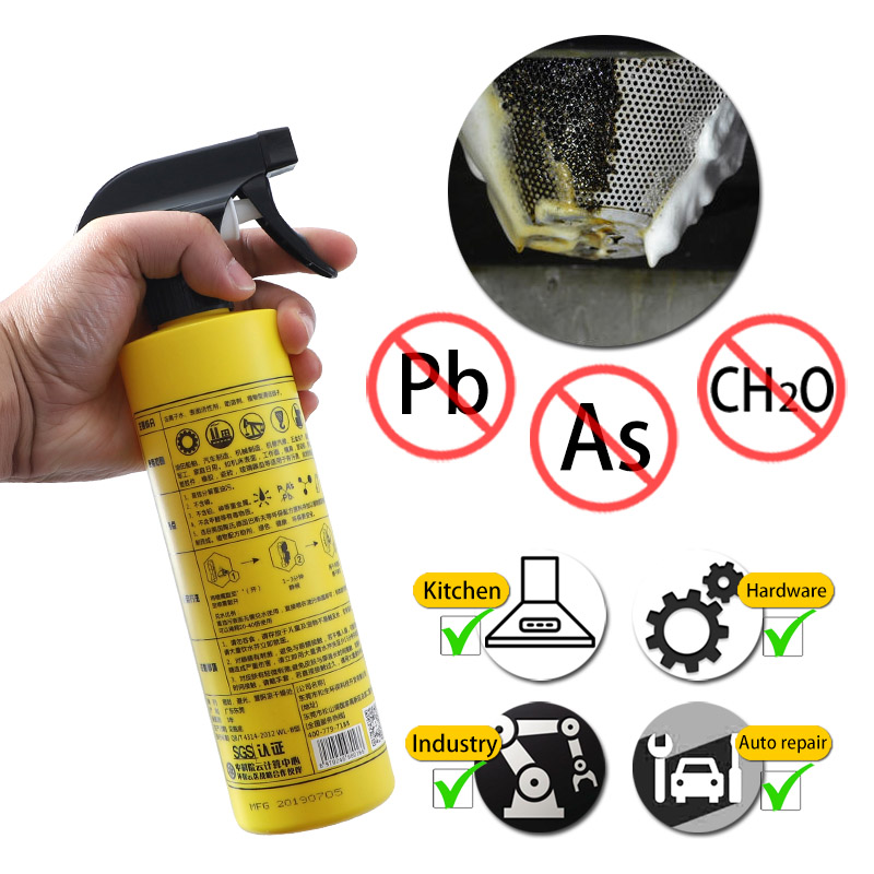 500ml Cleaner Solvent Metal Surface Stain Remover Heavy Oil Cleaner And Polish Rust Remover Quick Cleaming Spray