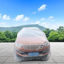 Capa de carro descartável cr impermeável transparente 1 pc capa de veículo de plástico capa de automóvel descartável
