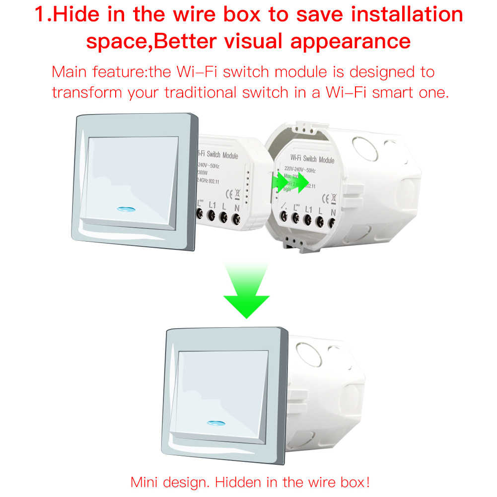 Wifi Thông Minh Đèn DIY Phá Module Cuộc Sống Thông Minh/Tuya Ứng Dụng Điều Khiển Từ Xa, hoạt Động Với Alexa Echo Google Nhà 1/2 Đường